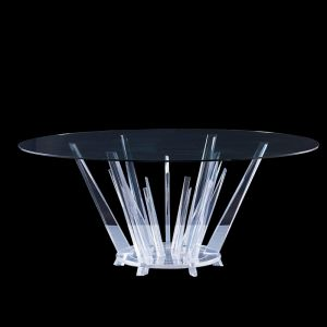 Kryptonite Round 4 dining chair Table Lucite Acrylic