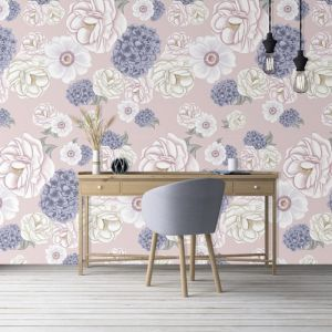 La Mairie Whisper Pink Wallpaper