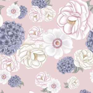 La Marie Dusty Pink Wallpaper