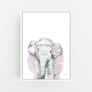 Lacey the Elephant by Pick a Pear | Canvas Wall Art