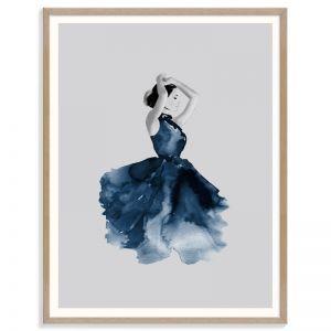 Lady in Blue | Renee Tohl | Framed Art Print | SALE