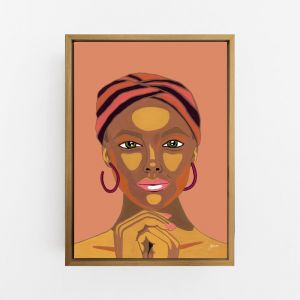 Lady Lila in Sandstone Wall Art Print | By Pick a Pear | Canvas