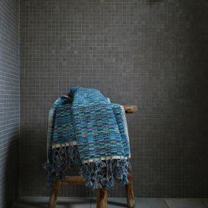 Lagoon Bath Mat   by Loom Towels