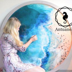 Laguna Beach CA  Marie Antuanelle Round Acrylic Perspex Print