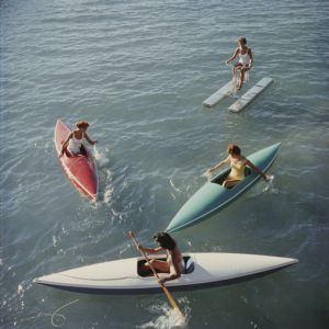 Lake Tahoe Trip by Slim Aarons | Unframed Print