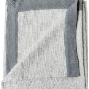 Landscap Throw | White / Silver Grey
