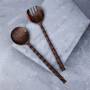 Large Recycled Sono Wood Salad Servers l Pre Order