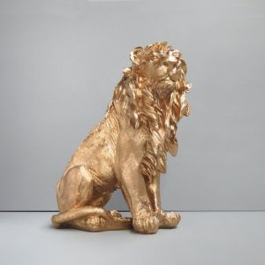 Large Sitting Lion | Gold