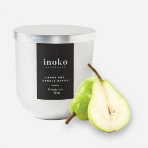 Large Soy Candle Refills | French Pear