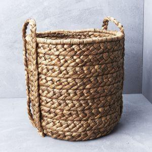 Large Waterhyacinth Basket with Plaited Handle l Pre Order