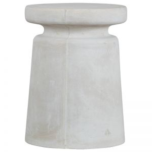 Largo 37x50cm Concrete Stool | Milky White | Schots