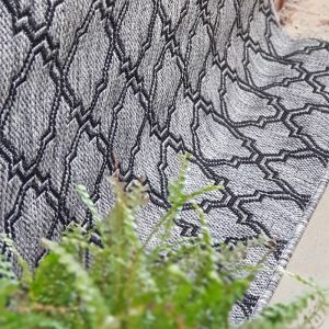 Lattice Seaspray Rug | Silver