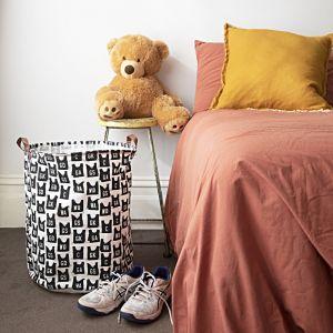 Laundry Hamper | Vintage Netball Bibs | Canvas
