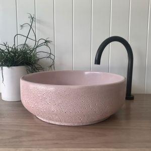 Lauren Round Basin by DLH Designs | Blush