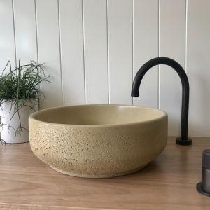 Lauren Round Basin by DLH Designs | Champagne