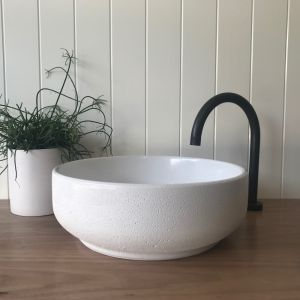 Lauren Round Basin by DLH Designs | Glacier