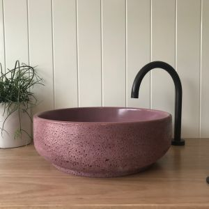 Lauren Round Basin by DLH Designs| Merlot