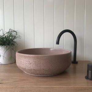 Lauren Round Basin by DLH Designs | Mushroom