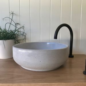 Lauren Round Basin by DLH Designs | Smoke