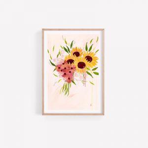 Lauren Sunflower Daisy | Fine Art Print Unframed