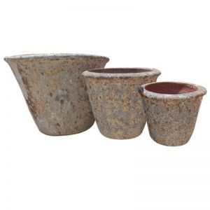 Lava Stone Garden Pot