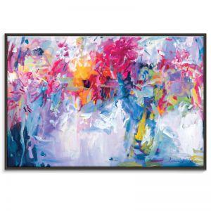 Lavender Flowers in my Hand | Amira Rahim | Framed Canvas Print | SALE
