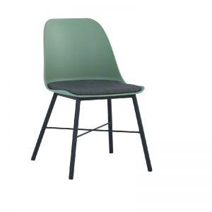LAXMI Dining Chair - Dusty Green & Black