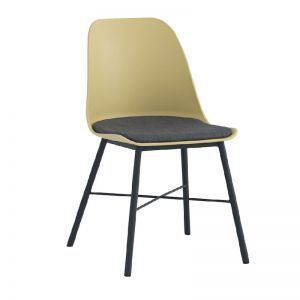 LAXMI Dining Chair - Dusty Yellow & Black