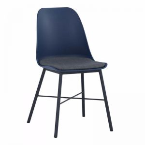Laxmi Dining Chair | Midnight Blue & Black