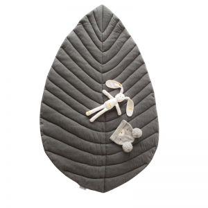 Leaf Cotton Play Mat   Grey