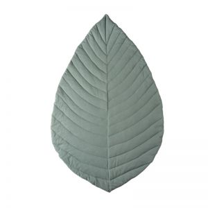 Leaf Cotton Play Mat   Jade