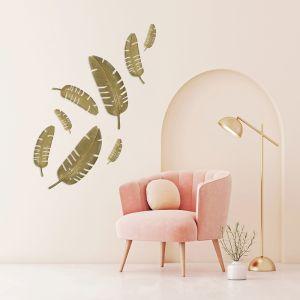 Leaf Out | Gold | Cast Iron Banana Palm Sculpture