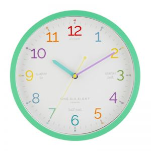 Learn The Time Wall Clock | Silent | 30cm | Mint | One Six Eight London