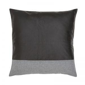 Leather Block Cushion by Amigos De Hoy | Black