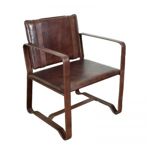 Leather Clyde Chair | Brown