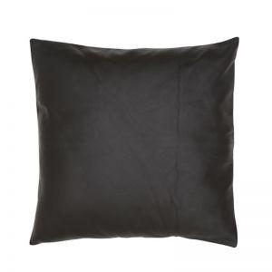 Leather Cushion by Amigos De Hoy   Black