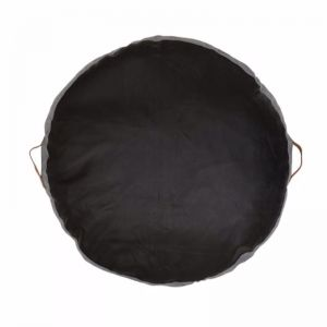 Leather Cushion Floor Pad by Amigos De Hoy| Round | Black