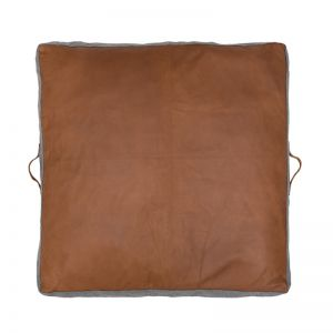 Leather Cushion Floor Pad by Amigos De Hoy | Square | Tan