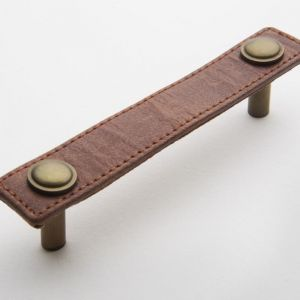 Leather Handle | Tan with Antique Brass