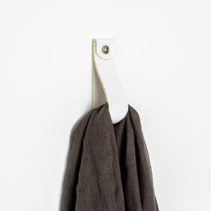 Leather Hook | White | Jemmervale Designs