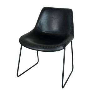 Leather Lola Chair | Black