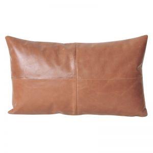 Leather Lumbar Cushion | Tan | BY SEA TRIBE