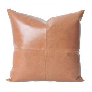 Leather Luxe Cushion | Tan | BY SEA TRIBE