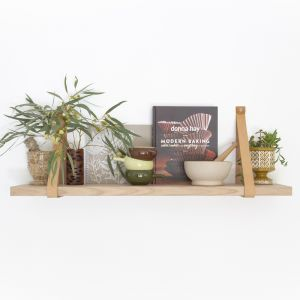 Leather Strap Shelf 70cm | Natural Leather | Jemmervale Designs