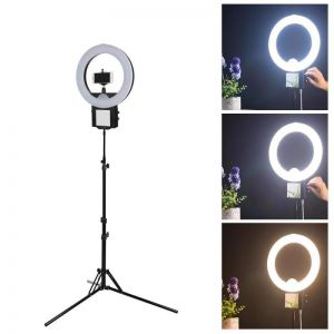 LED Dimmable Ring Light Kit Studio Make Up Selfie Extendable Tripod Stand