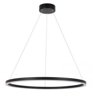 LEDlux Circa Ring 2000 Lumen Dimmable Pendant in Black | By Beacon Lighting
