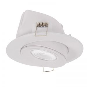 LEDlux City II Adjustable LED White Dimmable Downlight in Warm White | By Beacon Lighting