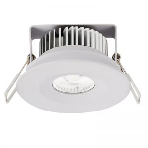 LEDlux City II Fixed LED White Dimmable Downlight in Warm White | Beacon Lighting