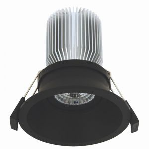 LEDlux Custom Tri-Colour 100mm Dimmable Downlight in Black | By Beacon Lighting