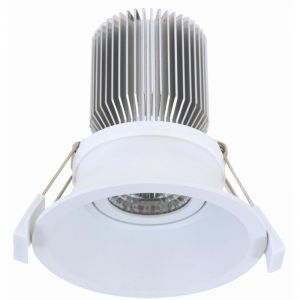 LEDlux Custom Tri-Colour 100mm Dimmable Downlight in White | By Beacon Lighting